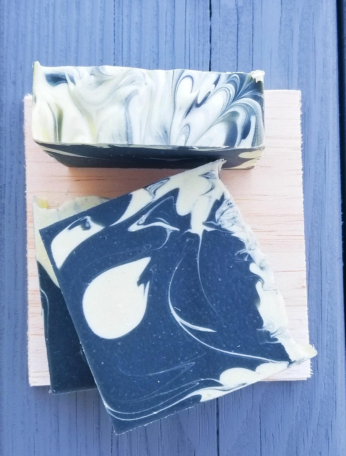 Charcoal and Lemongrass Soap 1